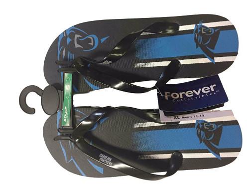 Carolina Panthers Men's Big Logo Gradient Unisex Beach Flip Flop Sandals