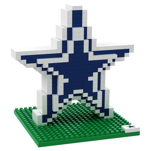 BRXLZ Team Logo 3-D Construction Toy Dallas Cowboys 535 Pieces