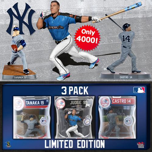 Import Dragon MLB 3 PACK AARON JUDGE ALL-STAR HOME RUN DERBY/TANAKA/CASTRO