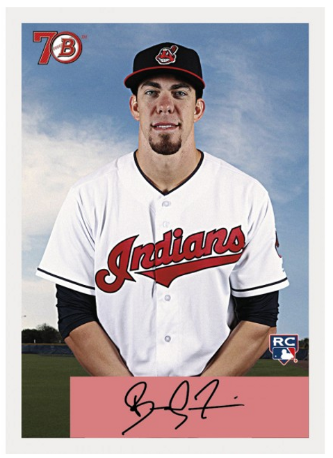 2017 Topps TBT 70 YEARS OF BOWMAN - 1954 DESIGN #76 BRADLEY ZIMMER INDIANS