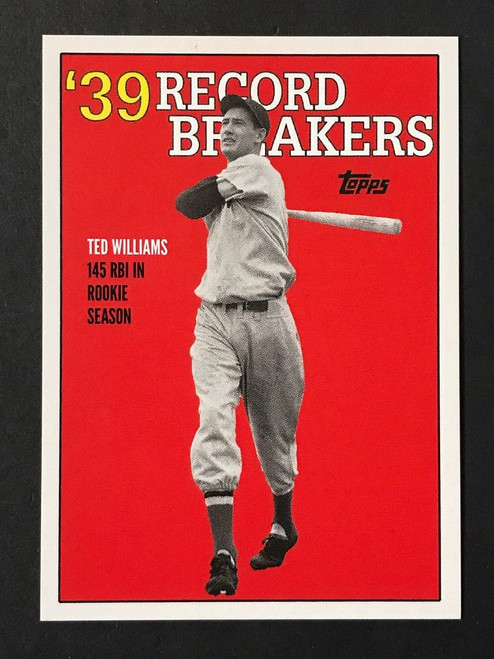 2017 Topps TBT ROOKIE RECORDS 1997 TOPPS DESIGN #133 TED WILLIAMS RED SOX