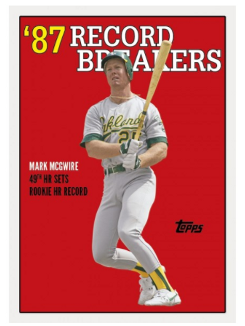 2017 Topps TBT ROOKIE RECORDS 1997 TOPPS DESIGN #130 MARK MCGWIRE OAKLAND