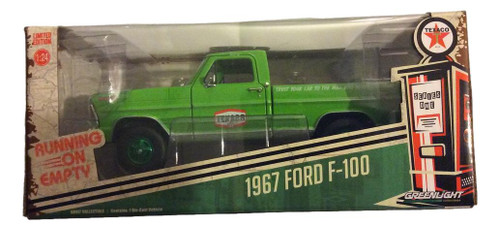 Greenlight 1:24 1967 Ford F-100 Running on Empty Texaco GREEN MACHINE