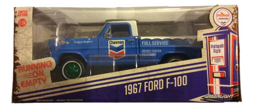 Greenlight 1:24 1967 Ford F-100 Running on Empty Chevron GREEN MACHINE