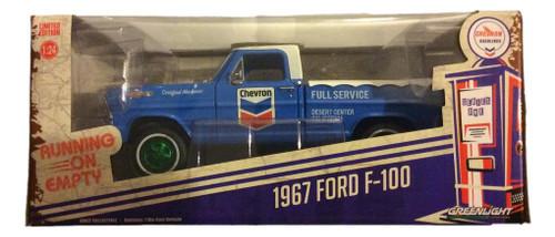 Greenlight 1:24 1967 Ford F-100 Running on Empty Chevron GREEN MACHINE