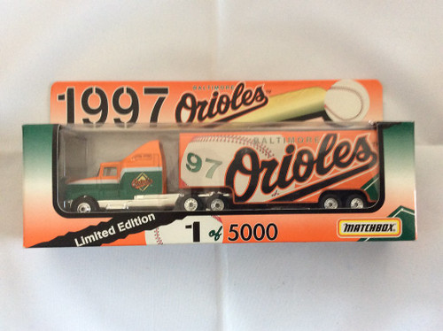 Matchbox 1997 1:80 Scale Tractor Trailer Baltimore Orioles Limited Edition 5000