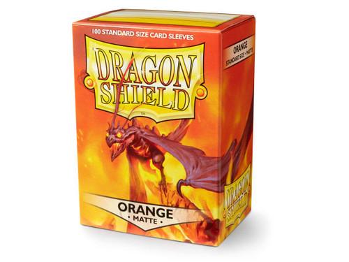 Dragon Shield Matte Orange 100 Protective Sleeves