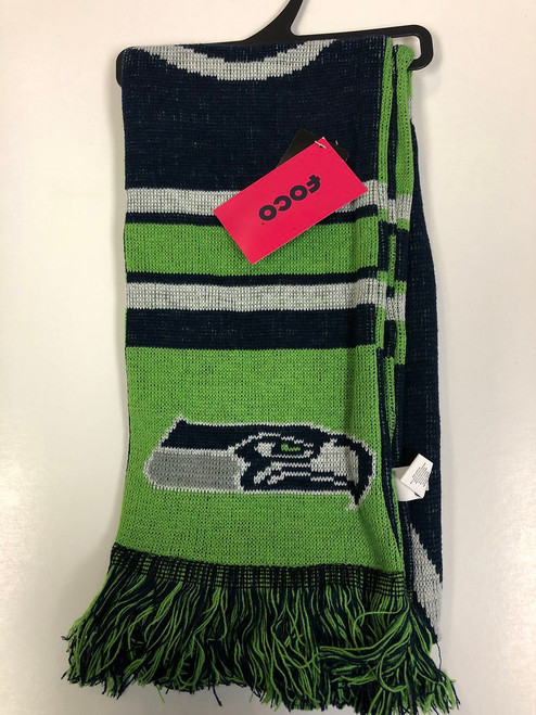 Officially Licensed NFL Colorblock Big Logo Scarf Choose Your Team