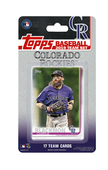 2019 Topps Factory Sealed Team Set - 17 Cards - Colorado Rockies