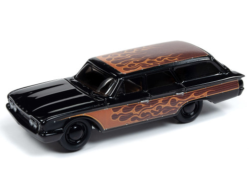 Johnny Lightning 1:64 Street Freaks Ver A 1960 Ford Country Squire Gloss Black