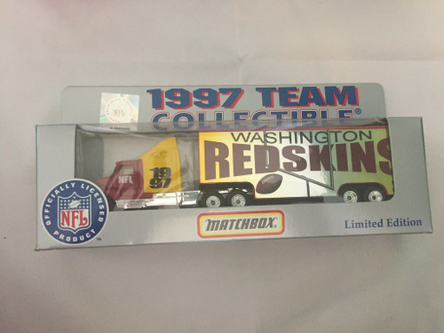 Matchbox 1997 1:80 Scale Tractor Trailer Washington Redskins Limited Edition
