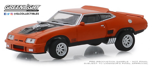 Greenlight 1-64 Hobby Exclusive 1973 Ford Falcon XB burnt orange w black stripes