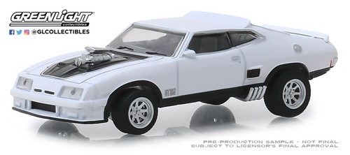 Greenlight 1-64 Hobby Exclusive 1973 Ford Falcon XB Polar White w black stripes