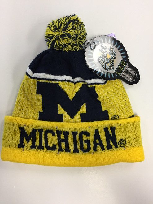 Michigan Wolverines Big Logo Knit Light Up Beanie