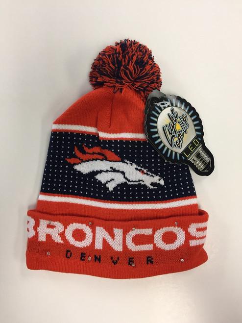 Denver Broncos Big Logo Knit Light Up Beanie
