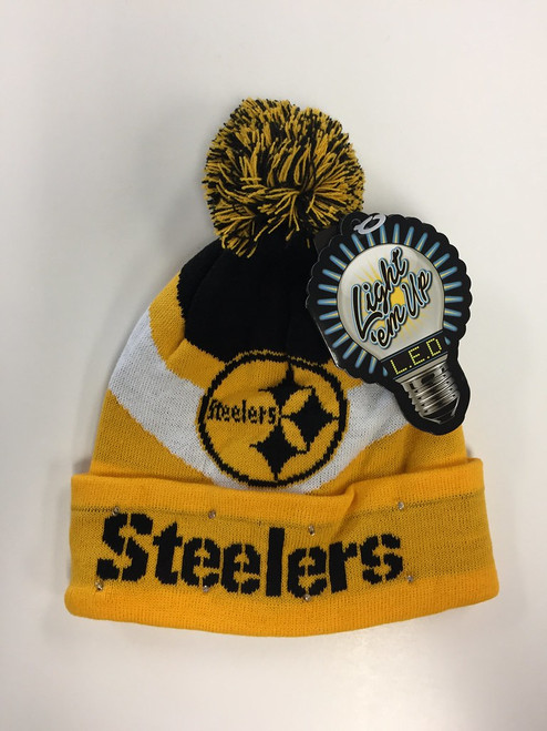Pittsburgh Steelers Big Logo Colorblock Light Up Beanie