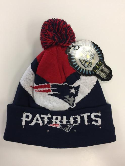 New England Patriots Big Logo Colorblock Light Up Beanie