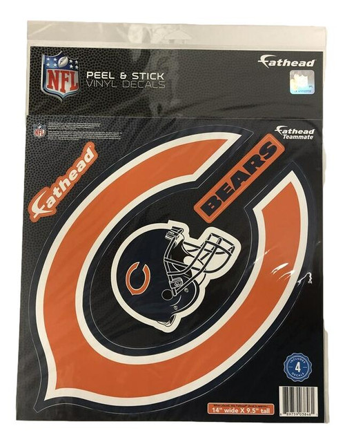 "Chicago Bears Fathead Wall Graphic Teammate Logo 14"" X 9.5"""