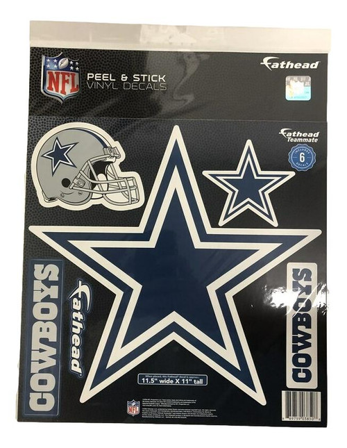 Fathead Teammate - Dallas Cowboys with 6 decal Logos