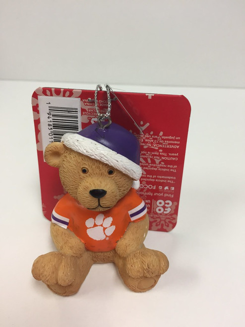 NCAA Team Jersey Bear Ornament Choose Your Team