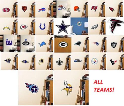Official Fathead Teammate Logo Sticker Choose your Team NFL Teams