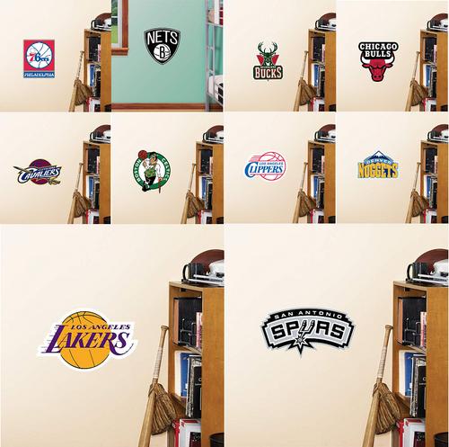 Official NBA Basketball Fathead Teammate Logo Sticker Choose your Team