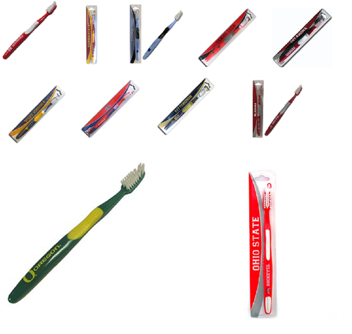 Offically Licensed NCAA Full Size Toothbrush - SOFT - Choose Your Team