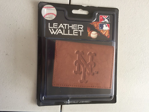 Official MLB Leather Wallet TriFold Embossed Choose Your Team