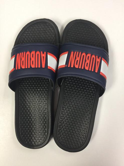 Auburn Tigers Men's Royal Raised Shower Sport Slide Flip Flop Sandals