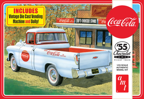 AMT 1094 1:25 Scale Model Kit 1955 Chevrolet Cameo Truck Coca-Cola Skill 3