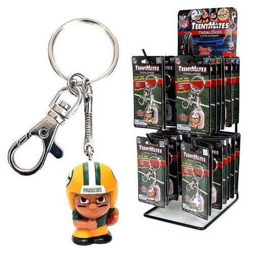 OFFICIAL NFL TEENYMATES Tagalongs   Backpack Bag Clip Keychain Team