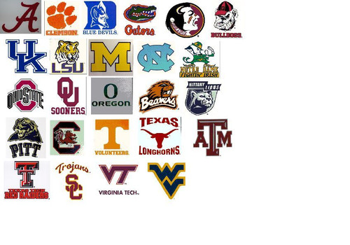 NCAA Window Clings Static Reusable Decal You Choose Your Team College