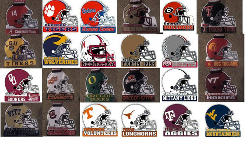 NCAA Die-Cut Helmet Felt Pennant You Choose Your Team - MADE IN USA