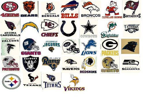 NFL Window Clings Static Reusable Decal You Choose Your Team