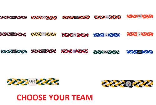 NFL Braided Style Elastic Headband Hairband - Choose Your Team