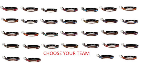 Official NFL Leather Pet Football Collar Dog Cat Choose Your Size and Your TEAM