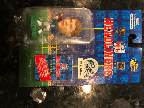 1996 NFL Headliners Rick Mirer Seattle Seahawks
