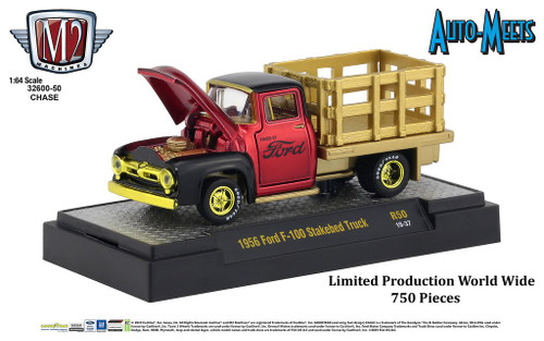 M2 Machines 1:64 Auto Meets Release 50 1956 Ford F-100 Stakebed Truck CHASE