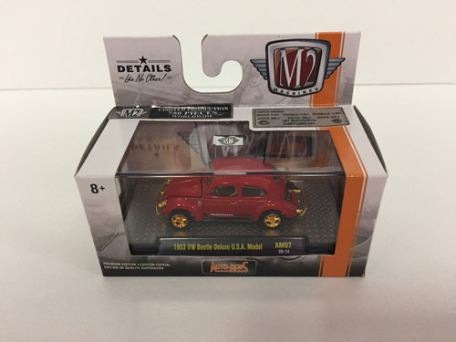 M2 Machines Auto-Mods Release AM07 1:64 1953 VW Beetle Deluxe USA Model CHASE