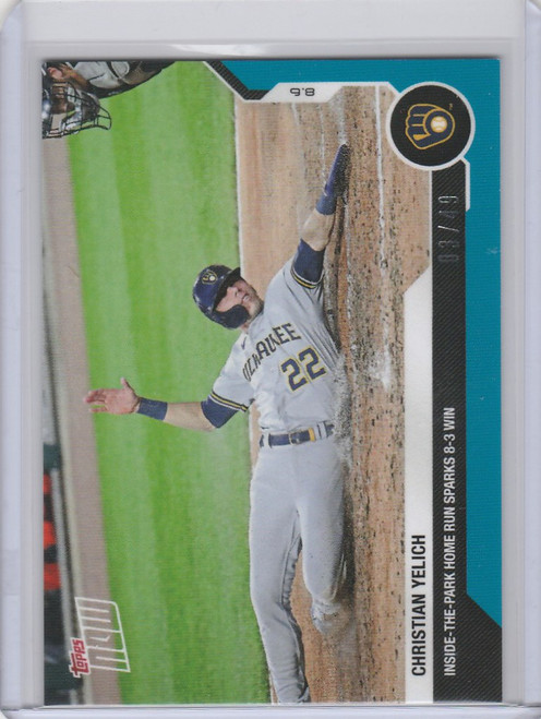 2020 Topps Now Parallel #65 Christian Yelich Milwaukee Brewers 3/49