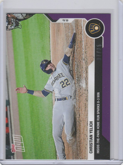 2020 Topps Now Parallel #65 Christian Yelich Milwaukee Brewers 7/25