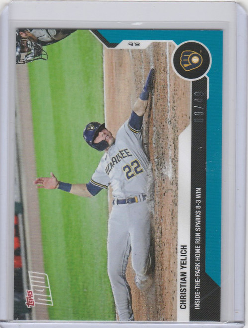 2020 Topps Now Parallel #65 Christian Yelich Milwaukee Brewers 9/49