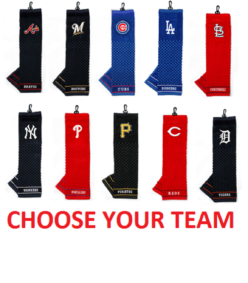 "Offically Licensed MLB 16""x22"" Embroidered Golf Towel Choose Your Team"