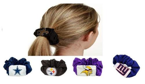MLB Hair Accessories Twist Scrunchie Ponytail Holder Mesh Teams Choose Your Team