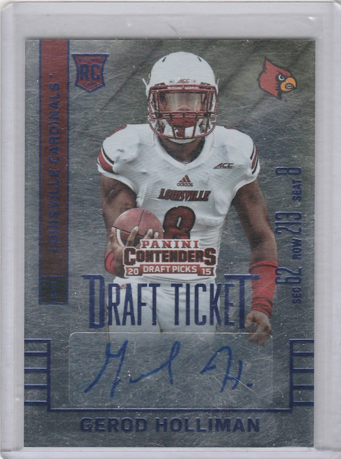 2015 Contenders Draft Gerod Holliman #189 AUTO RC