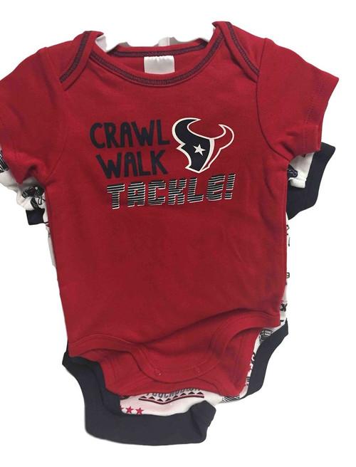 NFL Houston Texans 3 Pack Bodysuit - Choose Your Size