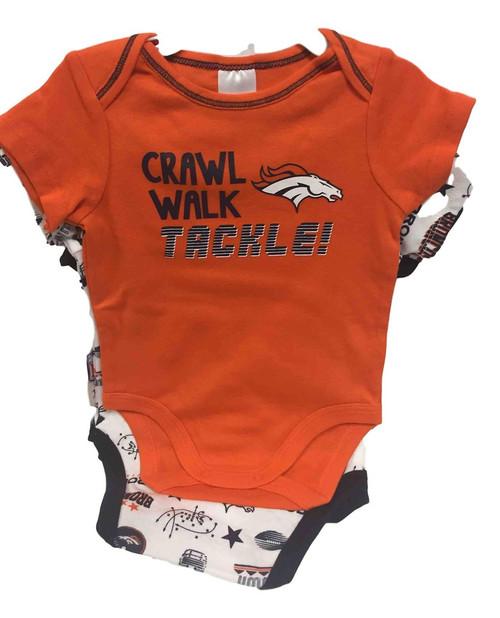 NFL Denver Broncos 3 Pack Bodysuit - Choose Your Size