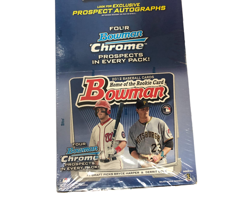 2012 Bowman Baseball Jumbo Rack Hobby Box