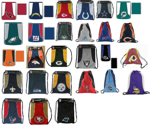 NFL Team Back-Sack Choose Your Team -- String Bag -- Back Pack -- Team Color