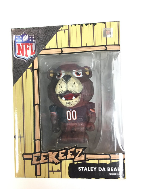 FOCO Chicago Bears Mascot Eekeez Figurine, Staley Da Bear 4""